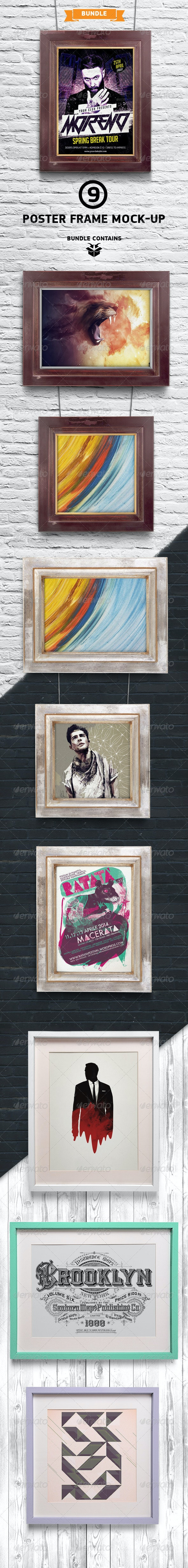 Poster / Picture Frame Mock-up Bundle - Posters Print