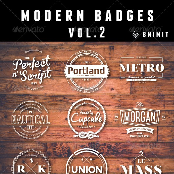 Modern Badges Vol.2