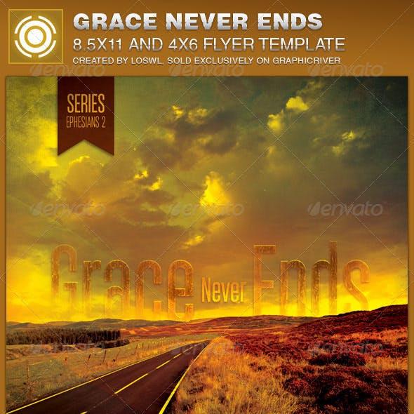 Grace Never Ends Church Flyer Template