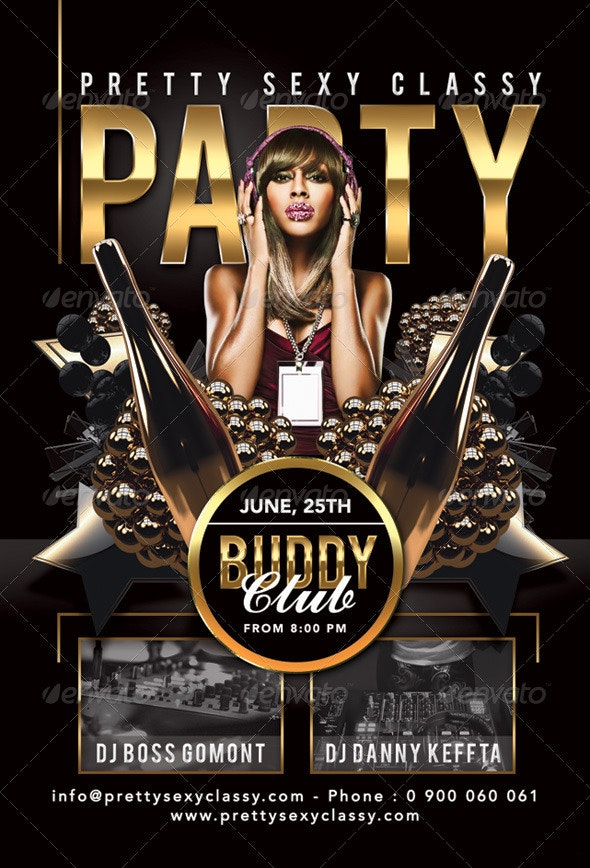 Pretty Sexy Classy Party In Club - Events Flyers