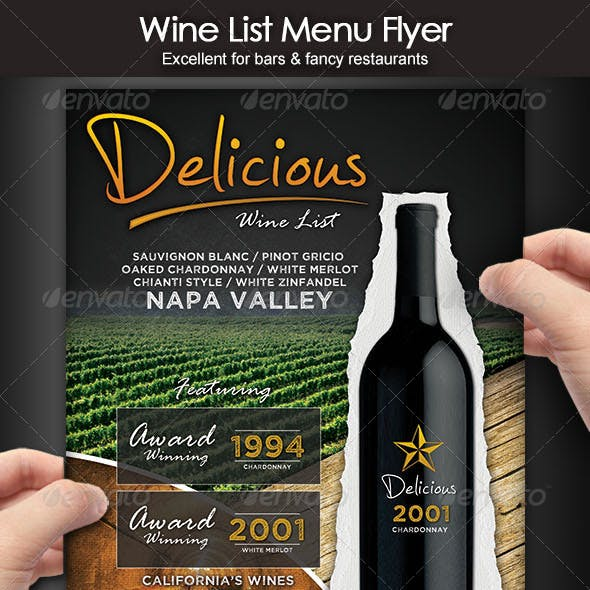 Wine List Menu Flyer