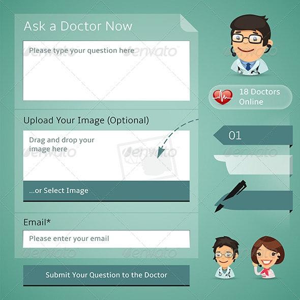 Doctors Online Consultation Form - Health/Medicine Conceptual