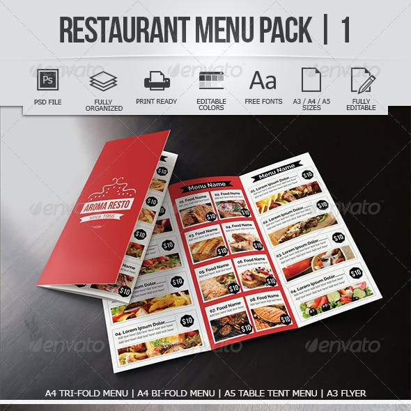 Restaurant Menu Pack 1