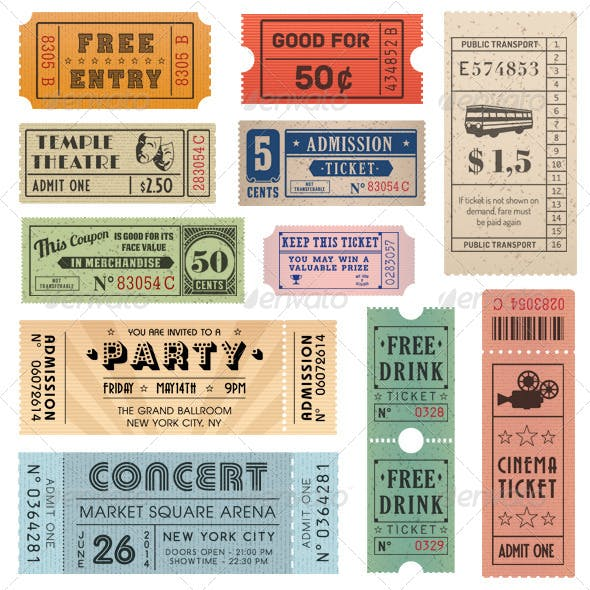 Vector Coupons and Tickets Collection 2