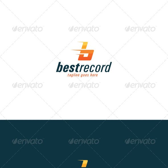 Best Record Logo — Letter B
