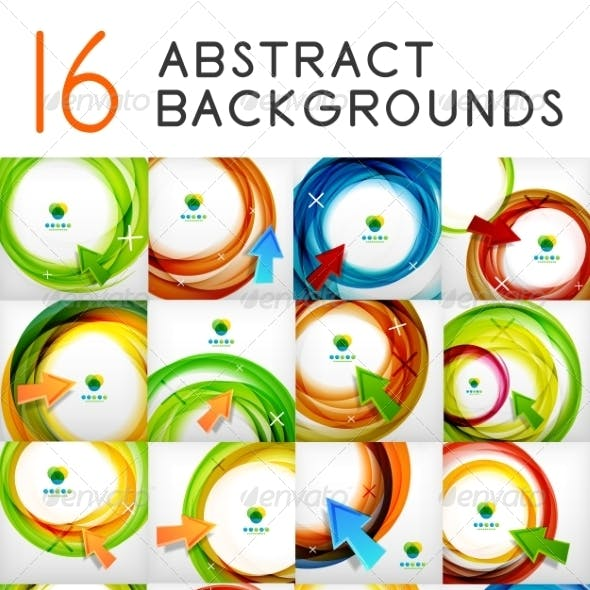 Vector swirl abstract backgrounds