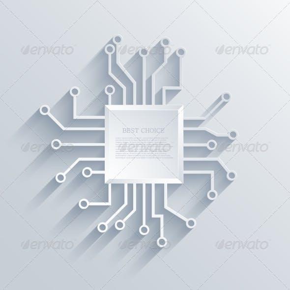 Vector Modern Circuit Board Background