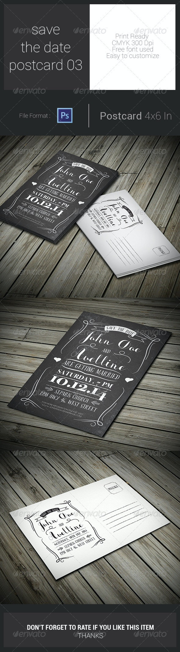 Save The Date Postcard 03 - Weddings Cards & Invites