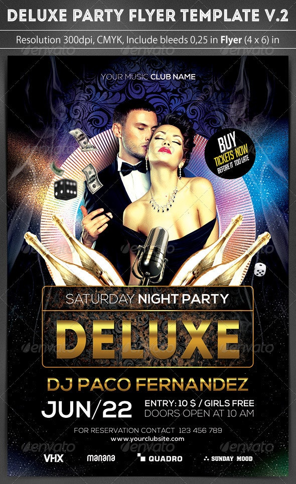 Deluxe Party Flyer v.2 - Clubs & Parties Events