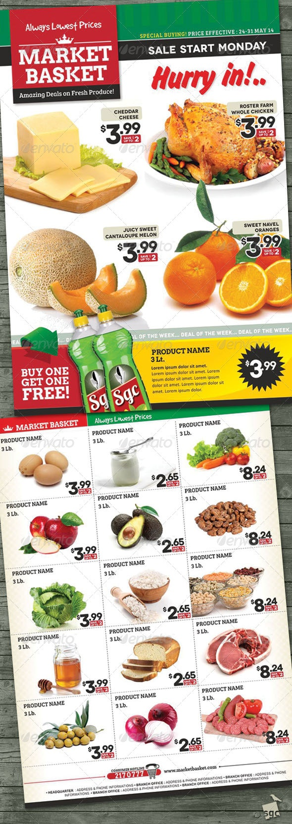 Supermarket Sale Flyer - Corporate Flyers