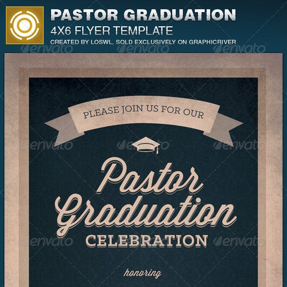 Pastor Graduation Celebration Church Flyer