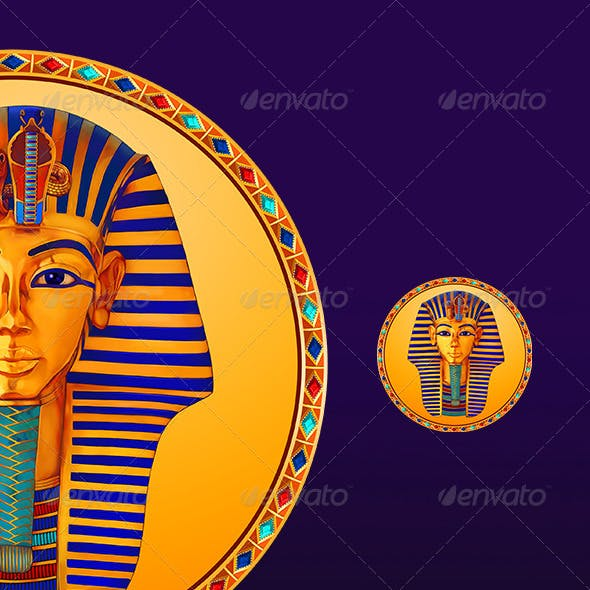 Casino slot icon of Egypt pharaoh Tutankhamun
