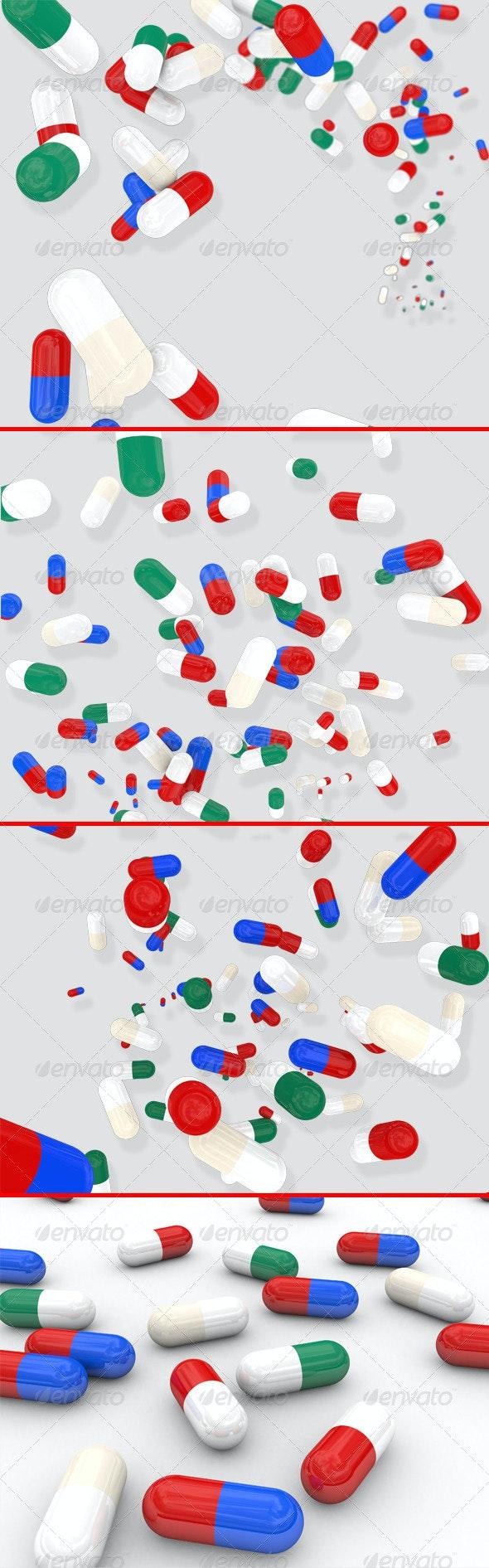 Medicine Pills - 3D Renders Graphics