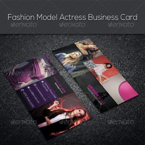 Fashion Model Actress Business Card