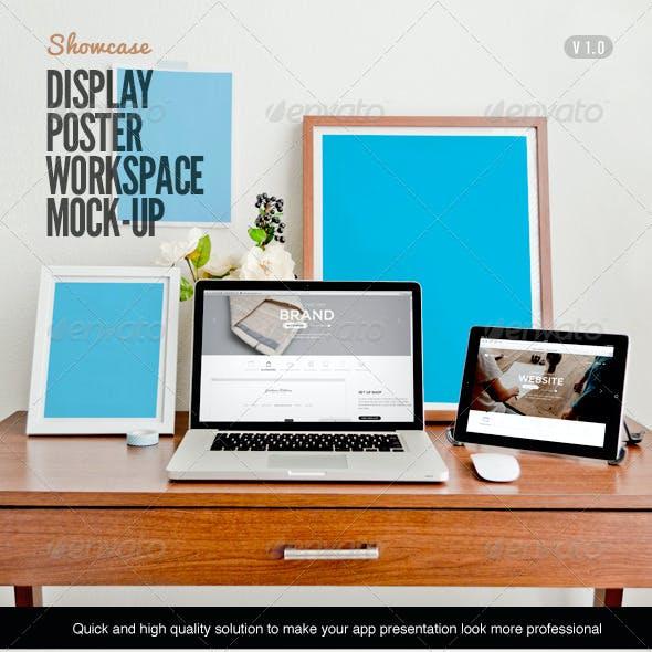 Display Poster Workspace Mock-Up