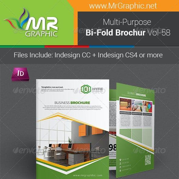 Multipurpose Bifold Brochure Template Vol-58