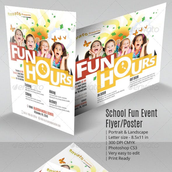 School Fun Event Flyer or Poster