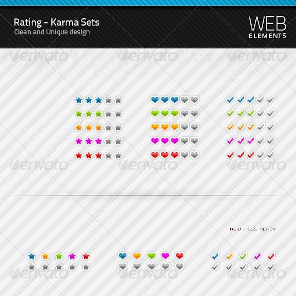 Rating / Karma sets