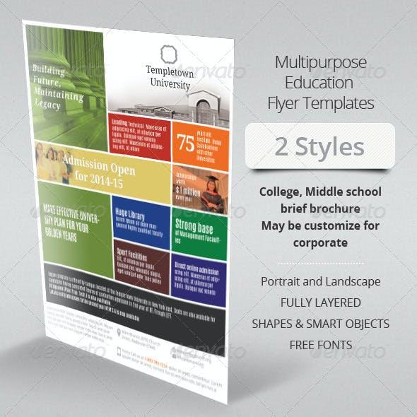 Multipurpose Education Flyer