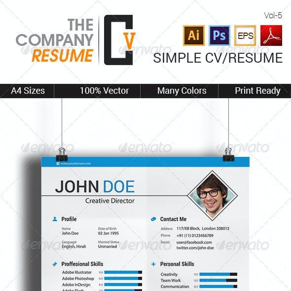 Simple CV/Resume