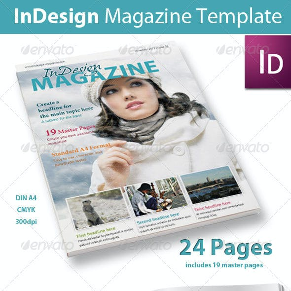 24 Pages InDesign Magazine
