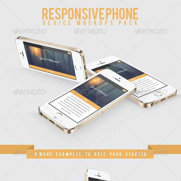 Responsive Phone Device Mockups Pack