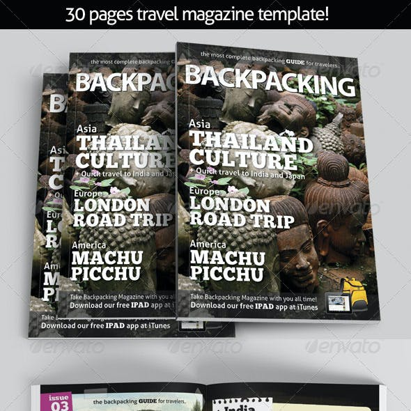 BackPacking Magazine Template for Print
