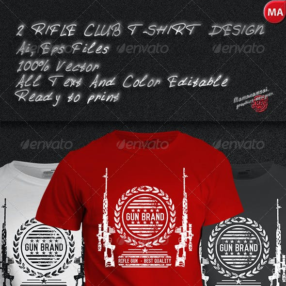 2 Rifle Club T-Shirt Design