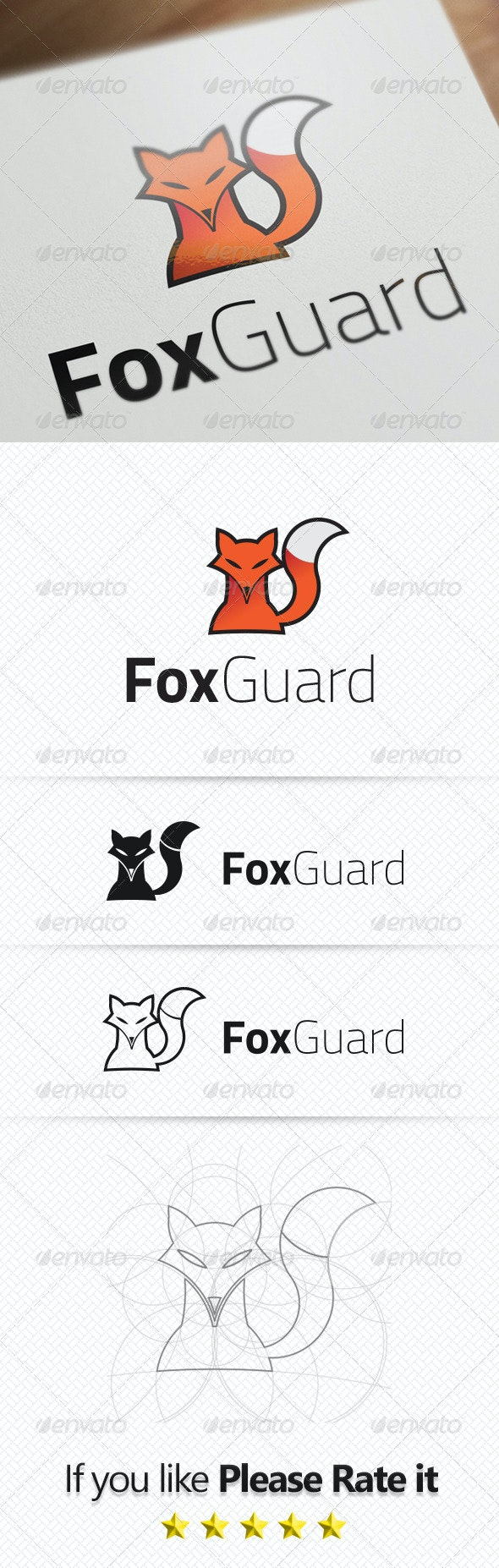Fox Guard - Animals Logo Templates