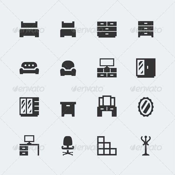 Home Furniture Icons Set #1