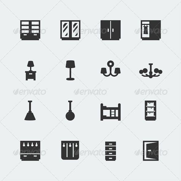 Home Furniture Icons Set #2