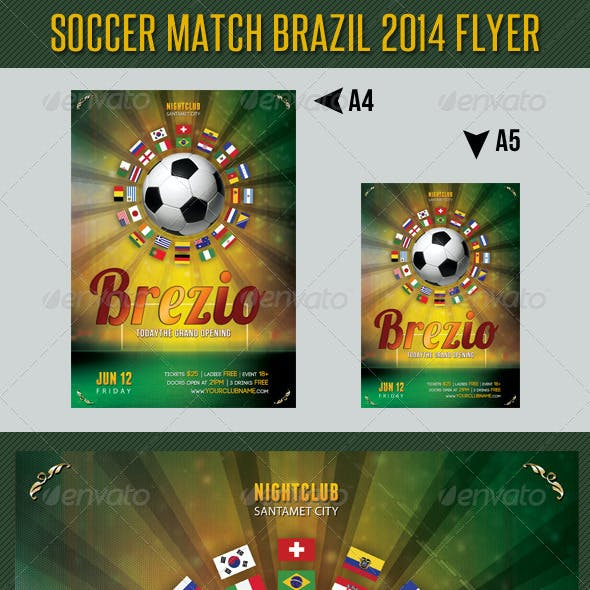 Soccer Tournament 2014 Flyer Template