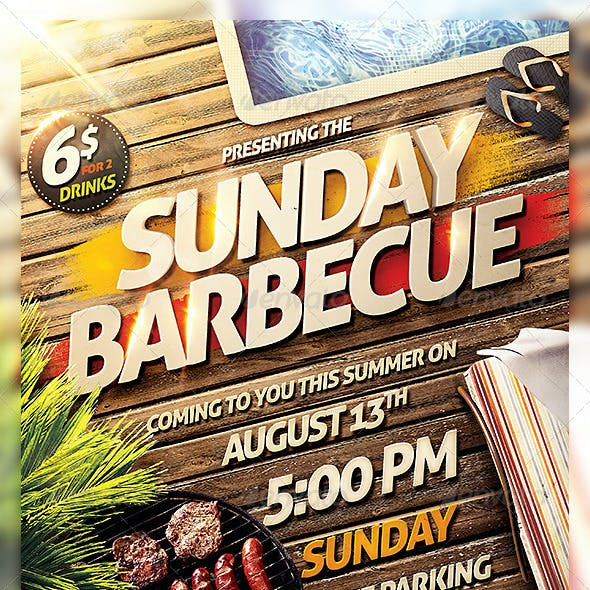 Barbecue BBQ Party Flyer Template