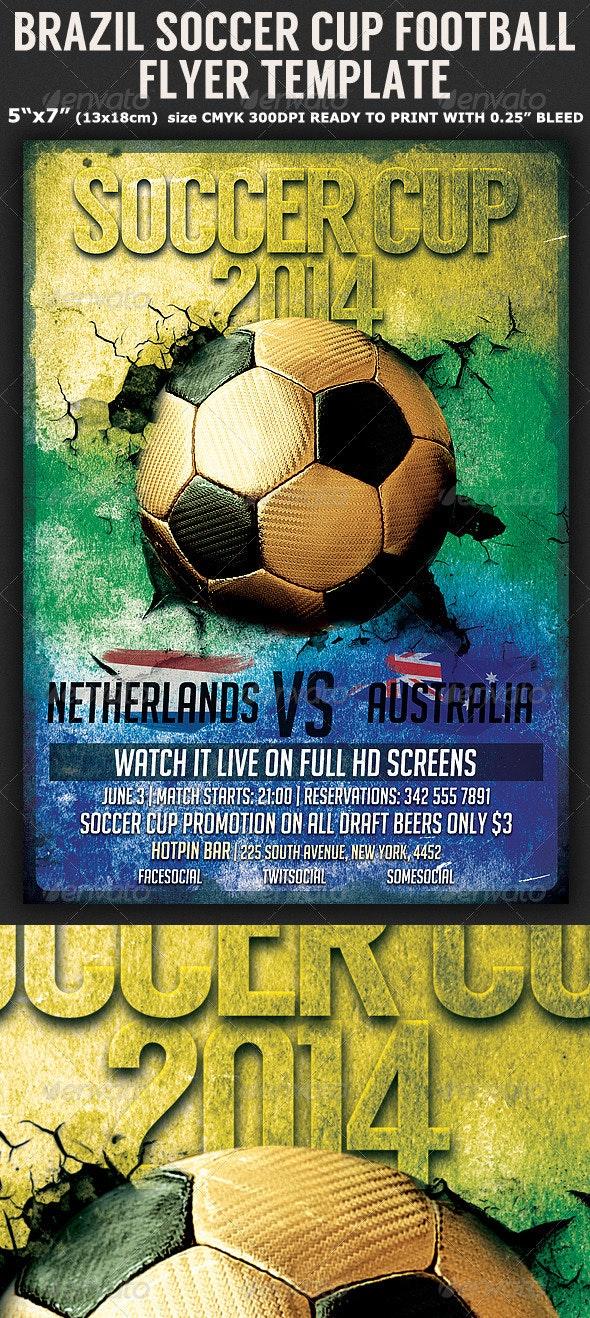 Brazil Soccer Football Cup 2014 Flyer