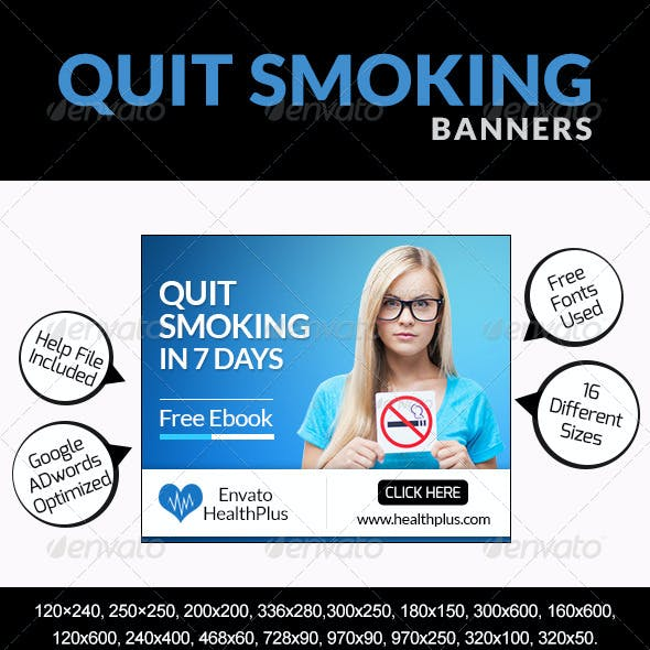 Quit Smoking Banners