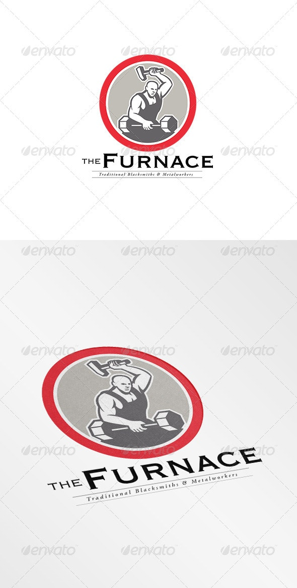 The Furnace Traditional Metal Workers Logo - Humans Logo Templates