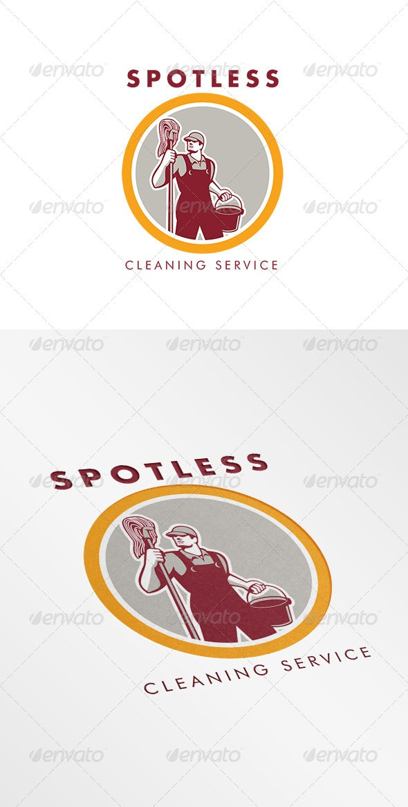 Spotless Cleaning Service Logo - Humans Logo Templates