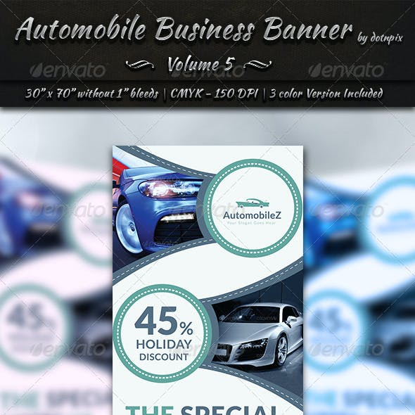 Automobile Business Banner | Volume 5