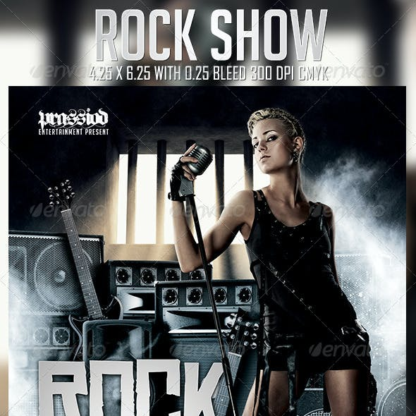 Rock Show Flyer Template