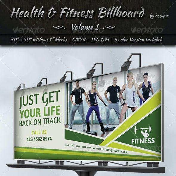 Health & Fitness Billboard Template   Volume 1
