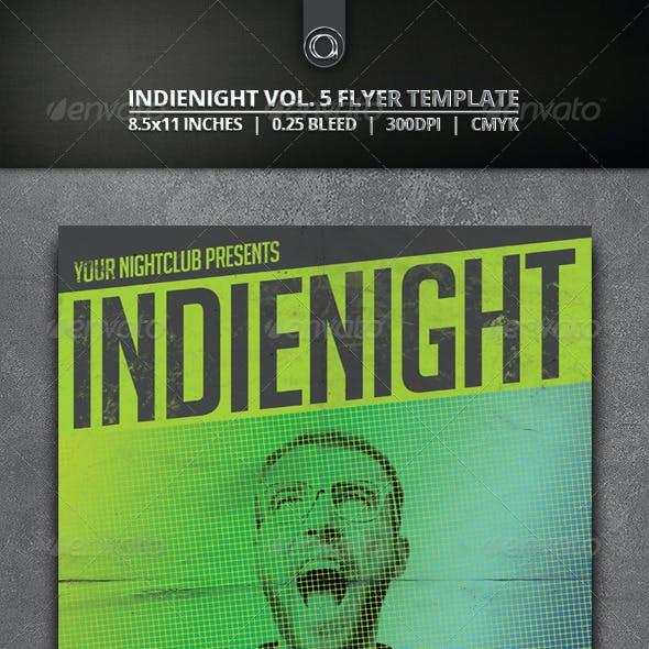 Indienight Flyer Template Vol. 5