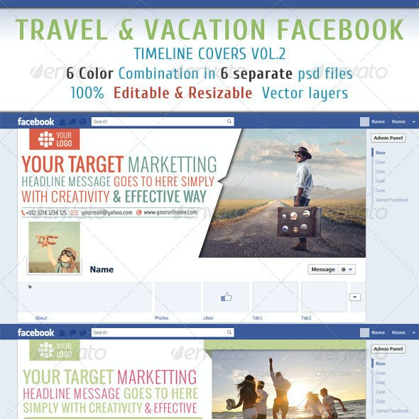 Travel & Vacation Facebook Timeline Vol2