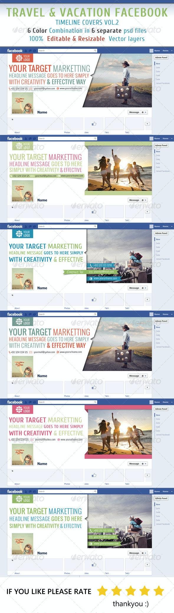Travel & Vacation Facebook Timeline Vol2 - Facebook Timeline Covers Social Media