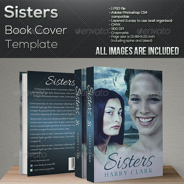 Sisters - Book Cover Template