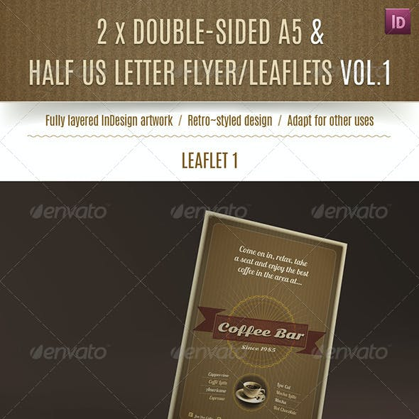 2 Double-Sided A5/Half Letter Coffee Bar Flyers