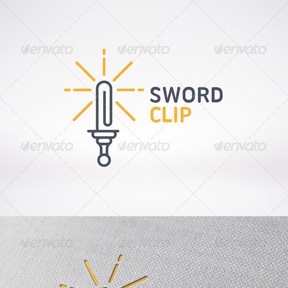 Sword Clip Logo Template