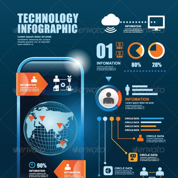 Infographic Technology Elements Design Template
