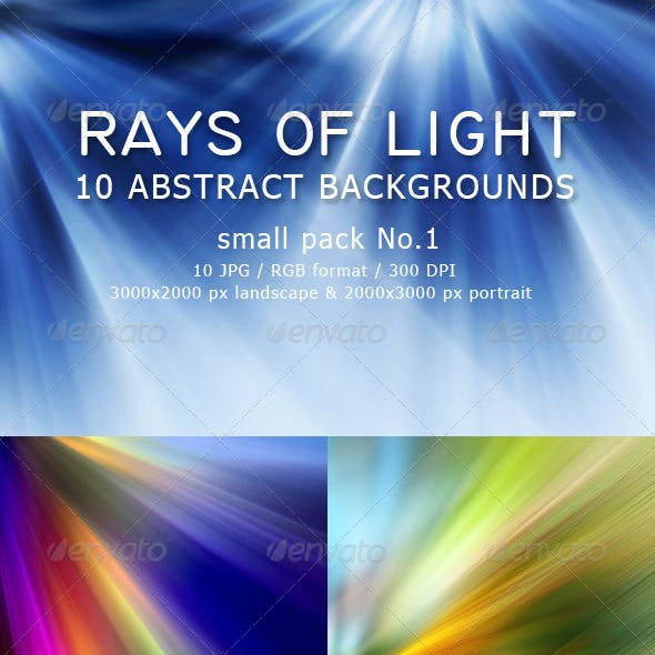 Rays Of Light - 10 Abstract Backgrounds pack 1
