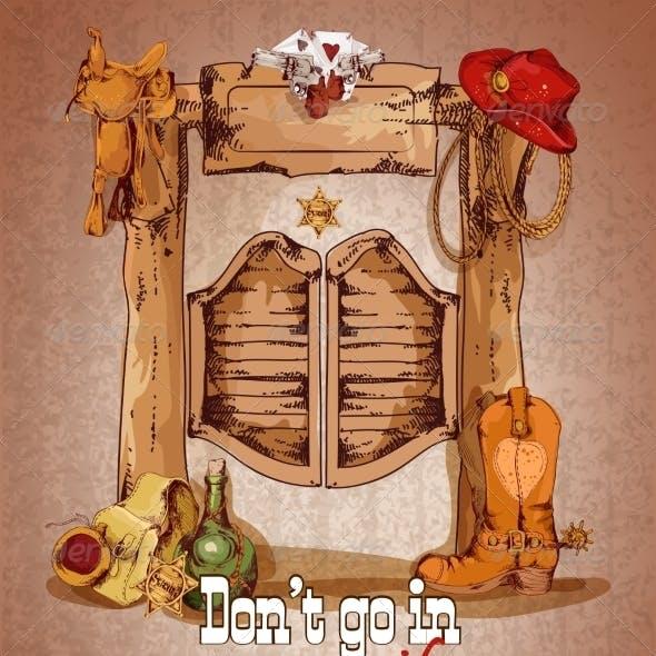 Wild West Saloon Poster