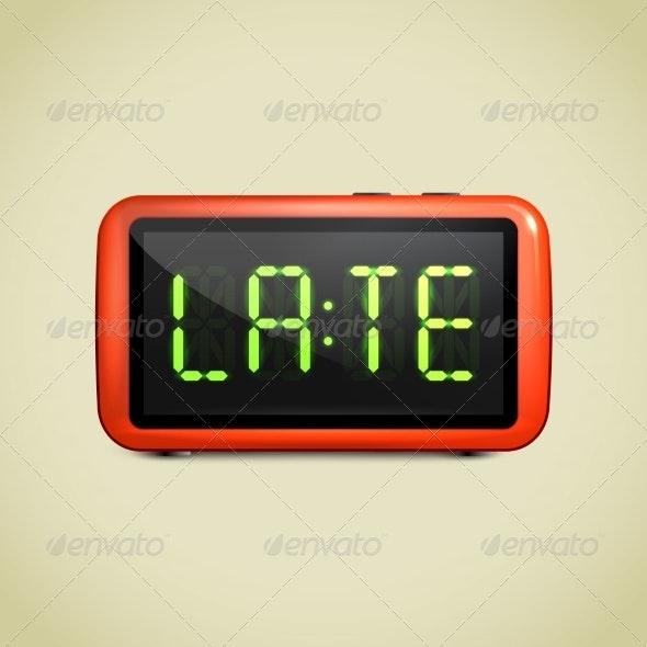 Digital Alarm Clock Wake Up